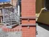 Obložený sloup balkónu