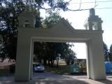 Brána od zámku po opravě